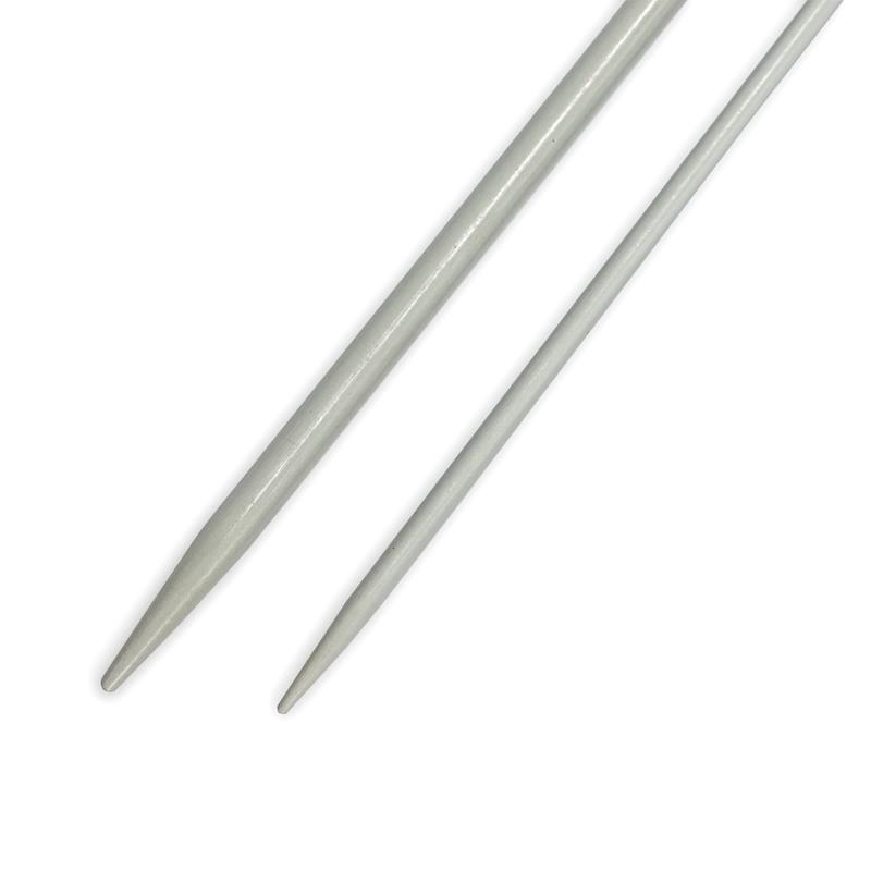 Straight Cable-Stitch Pins Alu 2.50 + 4.00mm Pearl-Grey