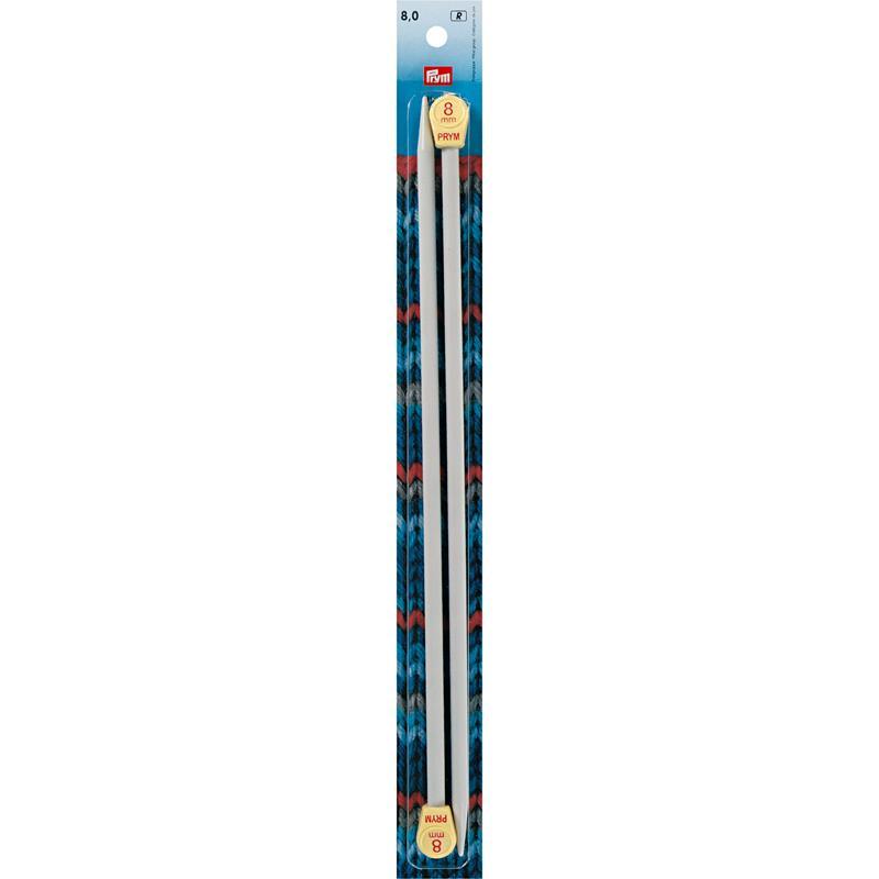 Single-Pointed Knitting Pins Plastic 35 Cm 8.00mm Grey