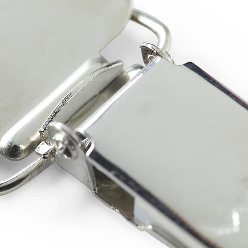 Combi Brace Clips Steel 25mm Silver Col