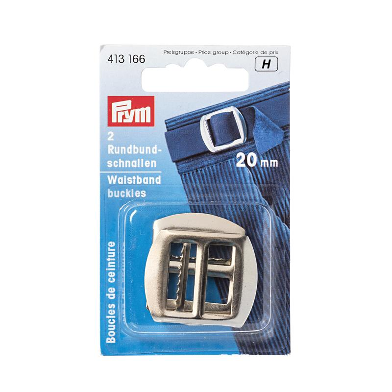 Waistband Buckles Steel 20mm Silver Col