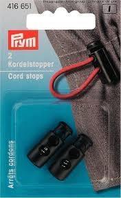 Cord Stops 2 Holes Plastic Black