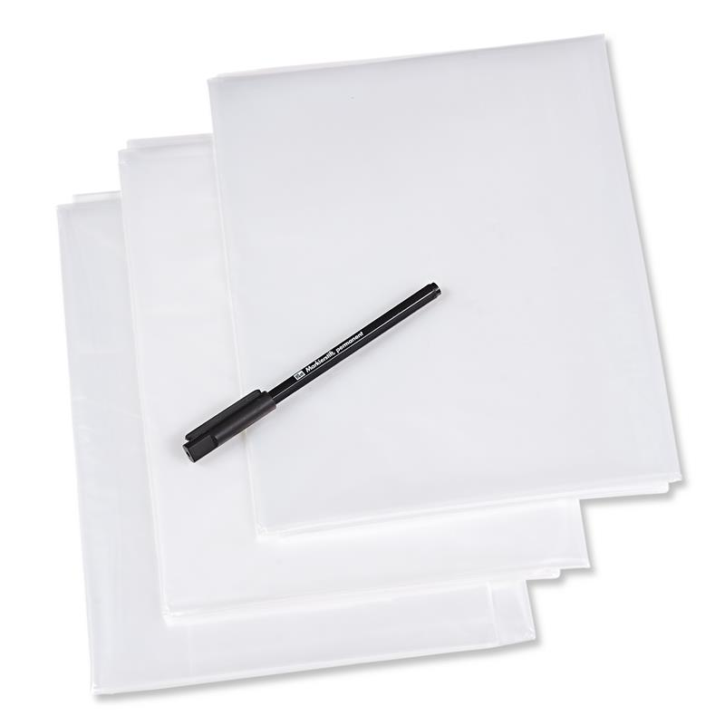 Plastic Tracing Sheets with Pen 1 X 1.5 metres