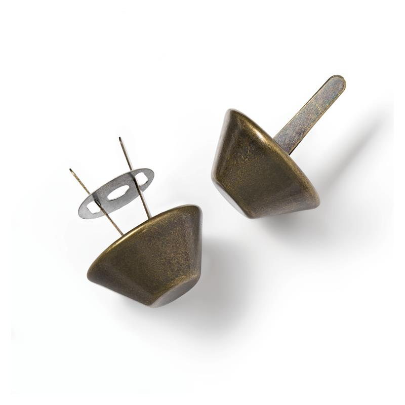 Base Nails For Bags 20mm Antique Brass