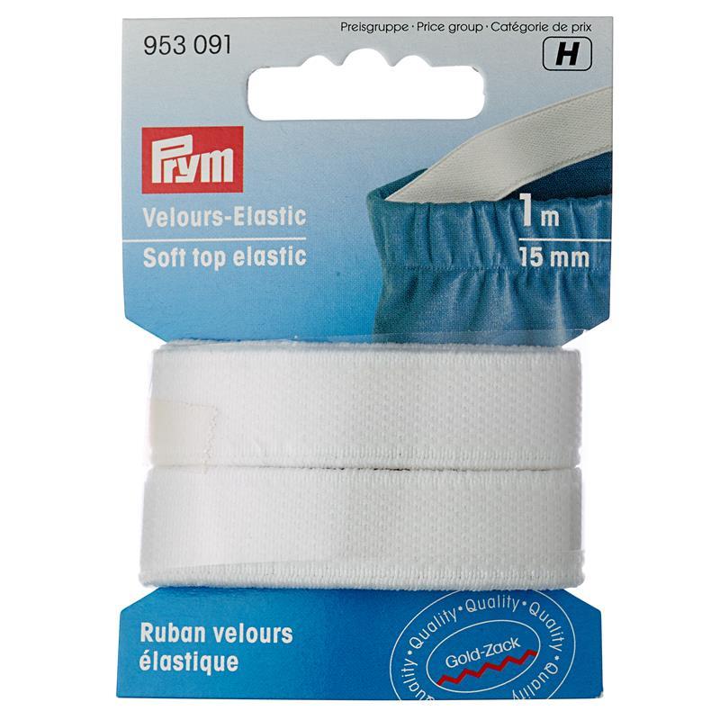 Soft Top Elastic 15mm White