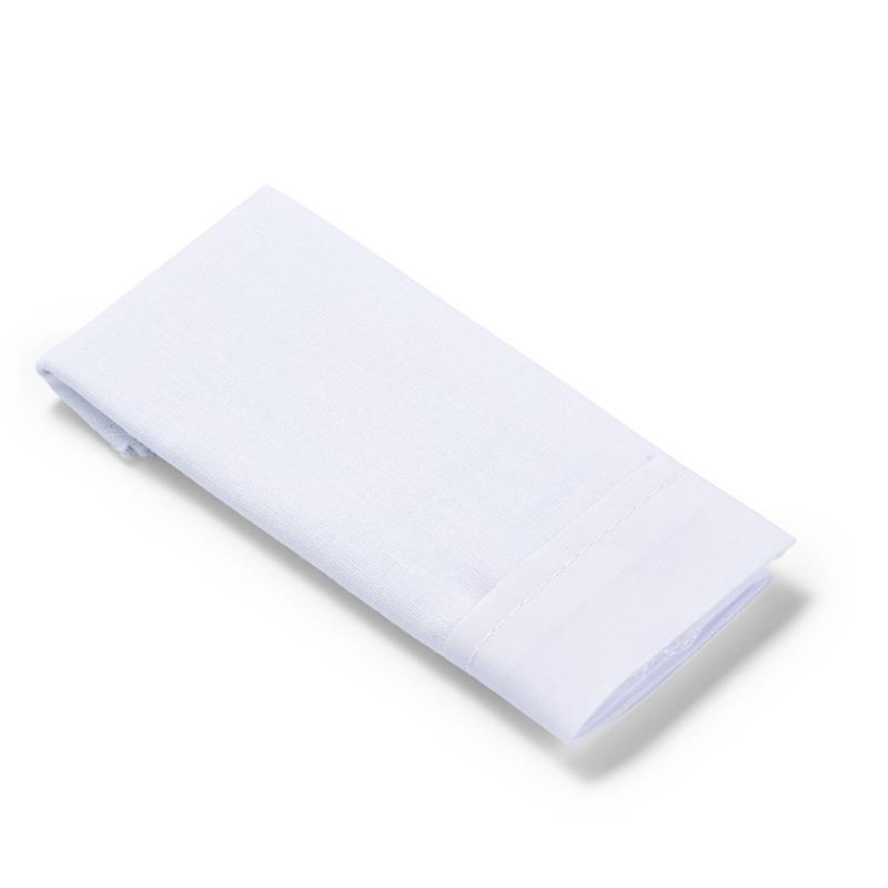 Trouser Pockets (Half) Cotton To Iron-On 14 X 17cm White