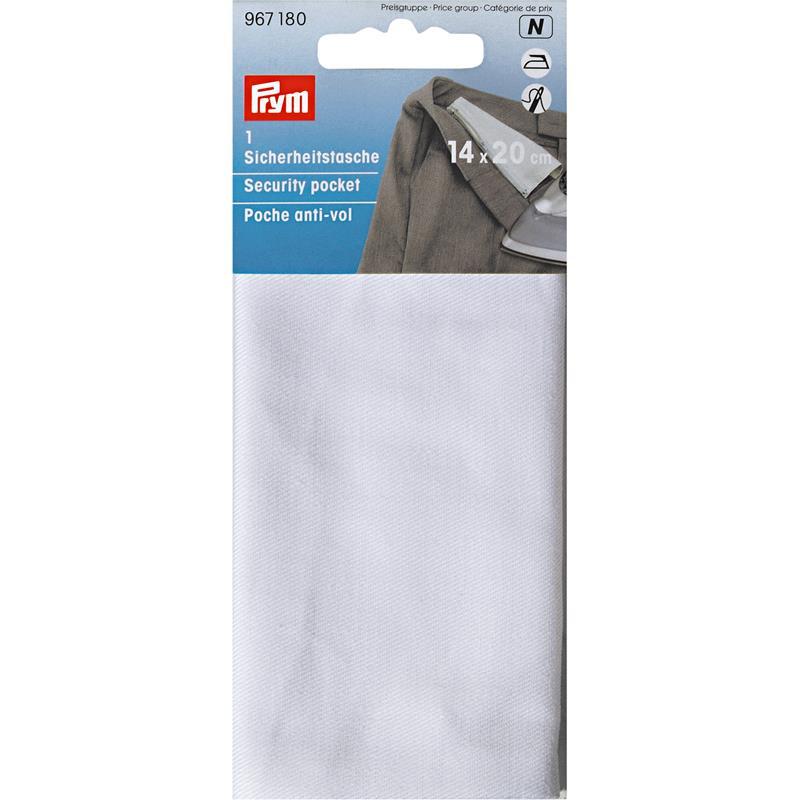 Security Pocket 14 X 20 Cm Natural White + Zip