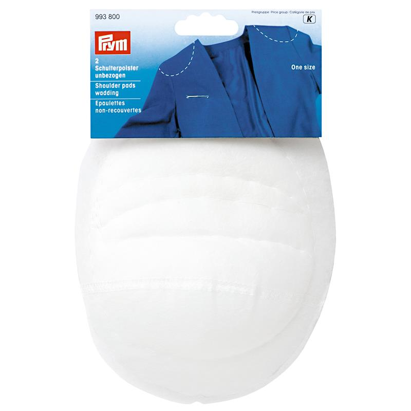 Shoulder Pads Set-In Wadding White One Size