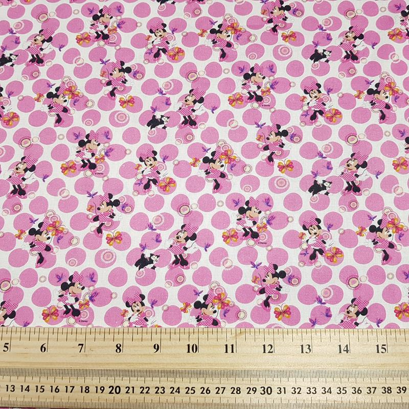 Polka Dot Minnie - Craft Cotton - Licensed Prints