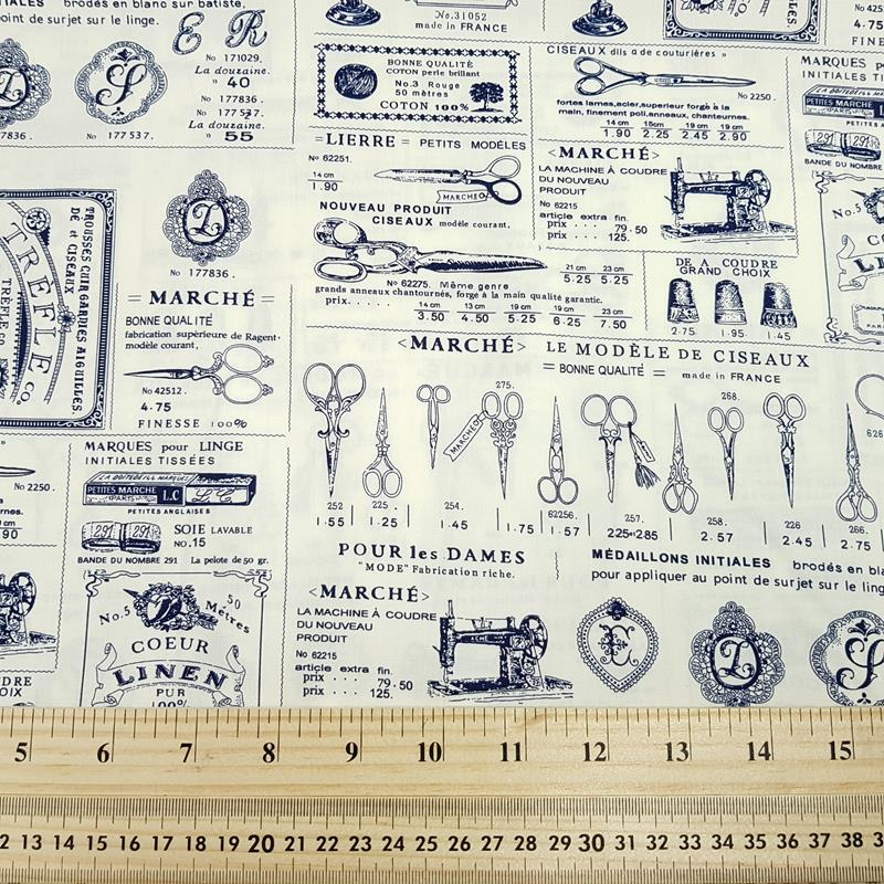 Antique Haberdashery Ads - Cotton Poplin