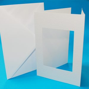 A5 Plain White Aperture Cards & Envelopes - Pack of 10 - Craft UK