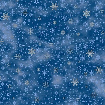 Craft Cotton - It's Snowflake - MS20-05Blue