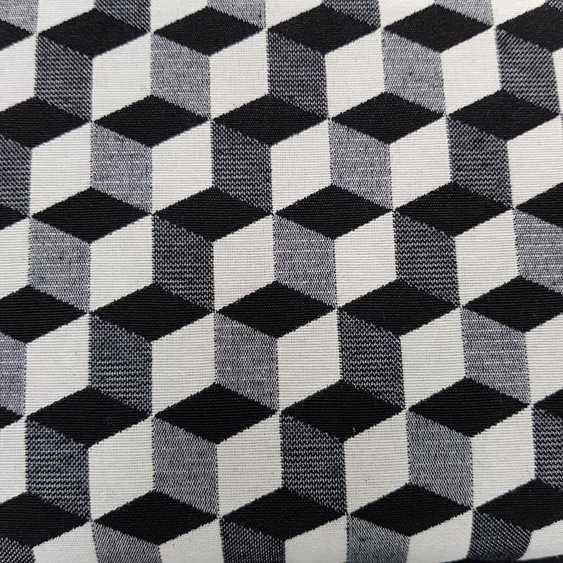 3D Blocks Black/White - New World Tapestry - Chatham Glyn