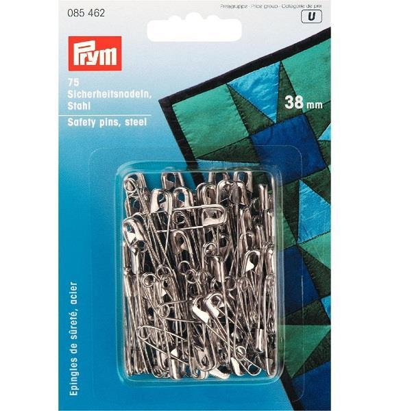 Safety Pins With Coil - Silver Colour - Large Pack