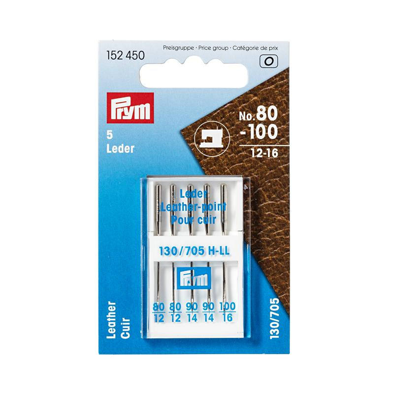 Sewing Machine Needles Sys. 130/705 Leather - Sizes 80-100 (12-16)