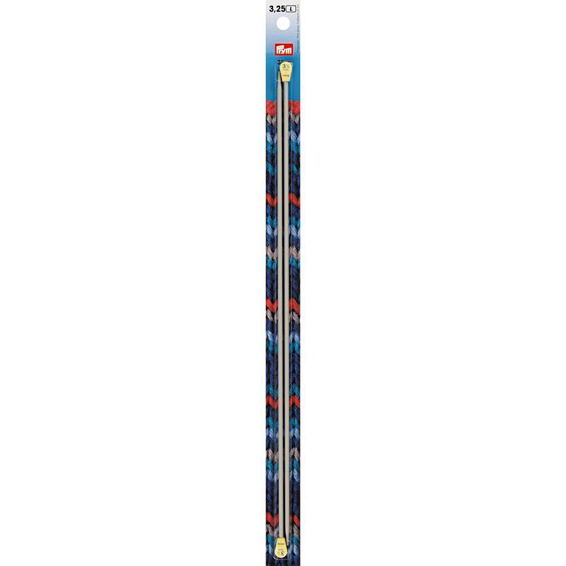 Single-Pointed Knitting Pins Aluminium 35cm Pearl Grey x 2