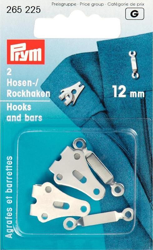 Trouser And Skirt Hooks & Bars - 12mm