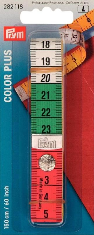 Tape Measure Color Plus With Press Fastener 150cm/60 Inch