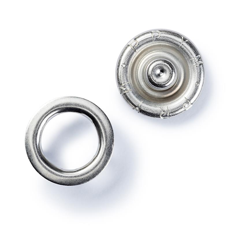 Non-Sew Press Fasteners For Lighter Fabrics - 10mm Ring - Silver Colour Or White - 390107 - 390111