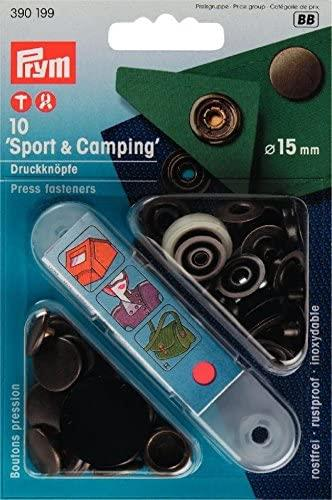 Non-Sew Fasteners Sport & Camping Brass 15mm 390199/200/201