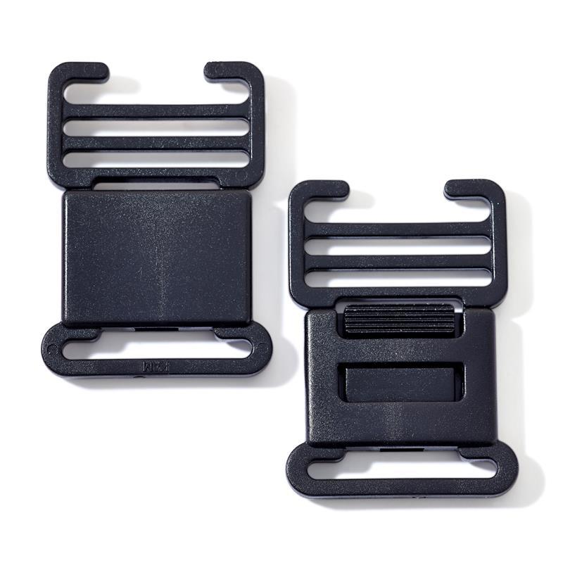Flat Clip Buckles (Bum Bag Clips) - Plastic Black