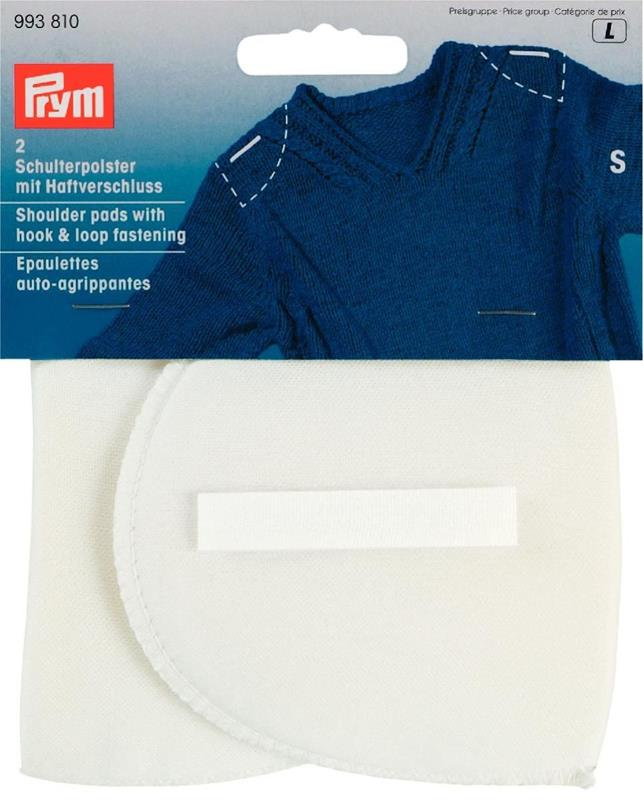 *Shoulder Pads Set-In With Hook And Loop Fastening - Contents: 2pcs