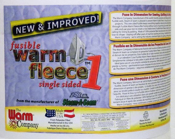 Fusible Warm Fleece - Single Sided - White - 45