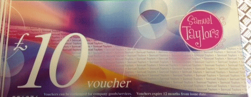 £10 Gift Vouchers - In Store Use Only