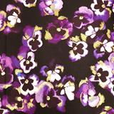 Clearance Craft Cottons - Pansy Noir