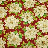 A Happy Christmas - White Poinsettia - Fabri-Quilt
