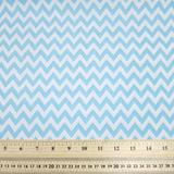 Chevrons - Light Blue - Polycotton