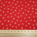 Anchors - Red - Polycotton