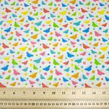 Butterflies - Multi - Polycotton