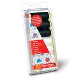 Gutermann Sew All Thread Set 7 x 100m Black & White