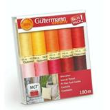 Gutermann Sew All Thread Set 10 x 100m Reds