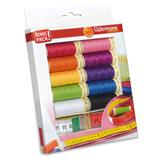 Gutermann Sew All Thread Set 10 x 100m with Tailor's Measuring Tape